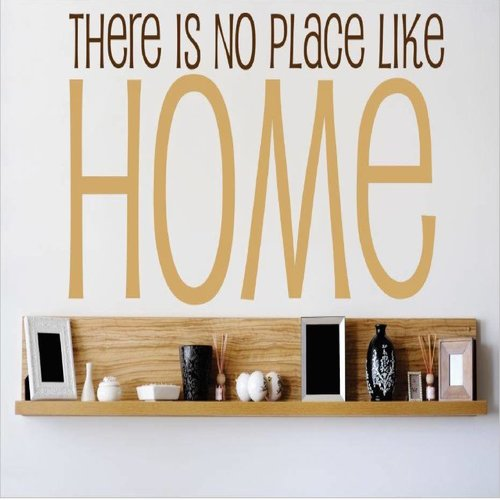Design With Vinyl There is No Place Like Home Living Room Bedroom Wall Decal