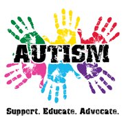 Autism Awareness Shirt 'Support, Educate, Advocate' Medium Safety Green