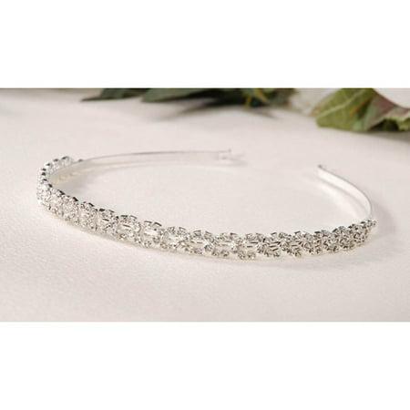 Victoria Lynn Tiara Headband - Silver - Rhinestones](Ruby Tiara)