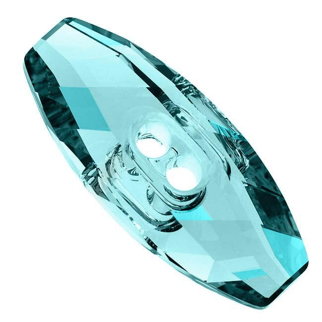 Swarovski Crystal, #3024 Dufflecoat Button 32mm, 1 Piece, Light Turquoise