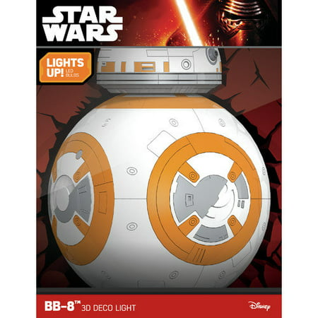 3D Light FX Star Wars BB-8 Droid 3D Deco LED Wall (Led Fx Pak)