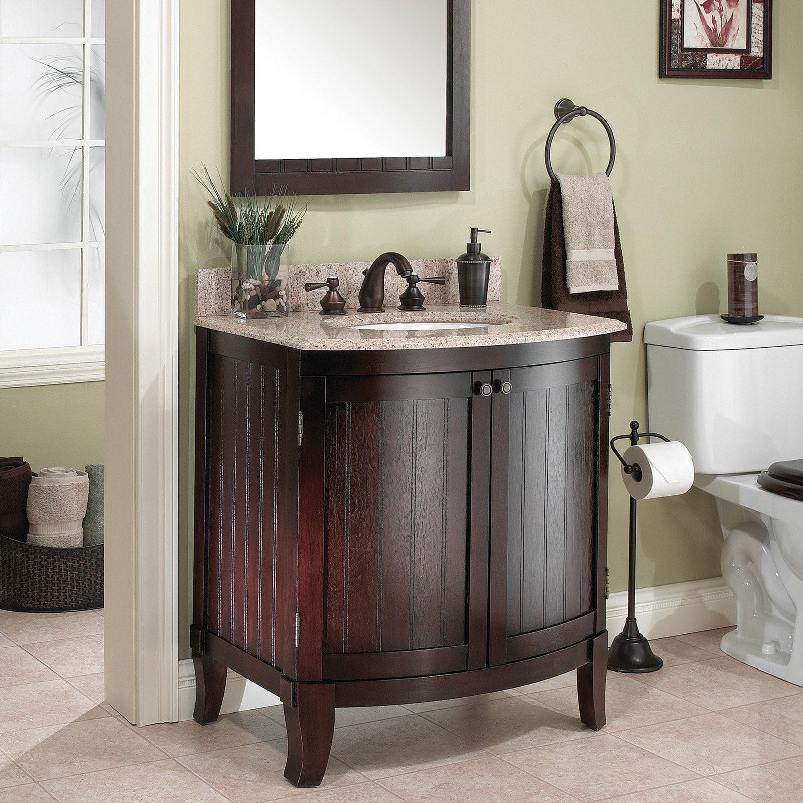 Foremost Bellani 30 In Single Bathroom Vanity With Optional Mirror Cherry Vanity Only Walmart Com Walmart Com