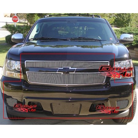 Fits 2007-2014 Tahoe/Suburban/Avalanche Vertical Billet Grille Grill Combo # C67717V