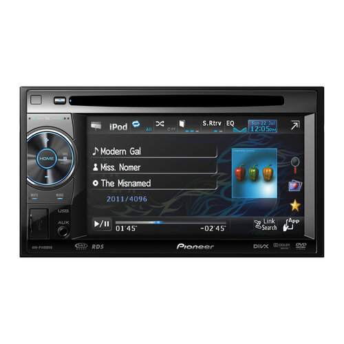 Pioneer Double DIN DVD and A/V Receiver, 1400