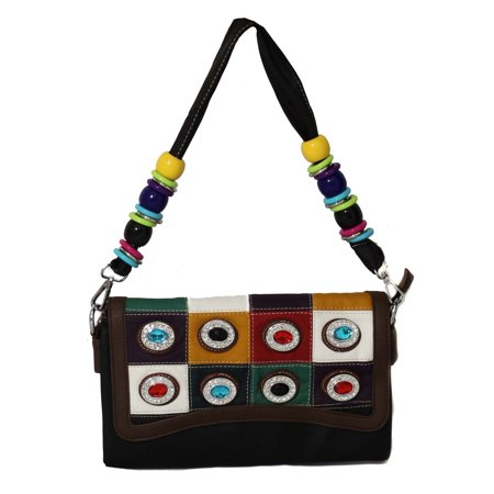Hearty Trendy Over The Shoulder Flap Over Clutch Handbag