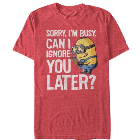 Despicable Me Men's Minion Ignore You Later T-Shirt](Purple Minion Shirt)
