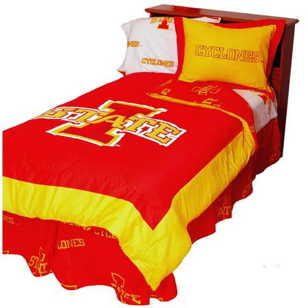 Iowa State Cyclones 2 Pc Comforter Set, 1 Comforter, 1 Sham,