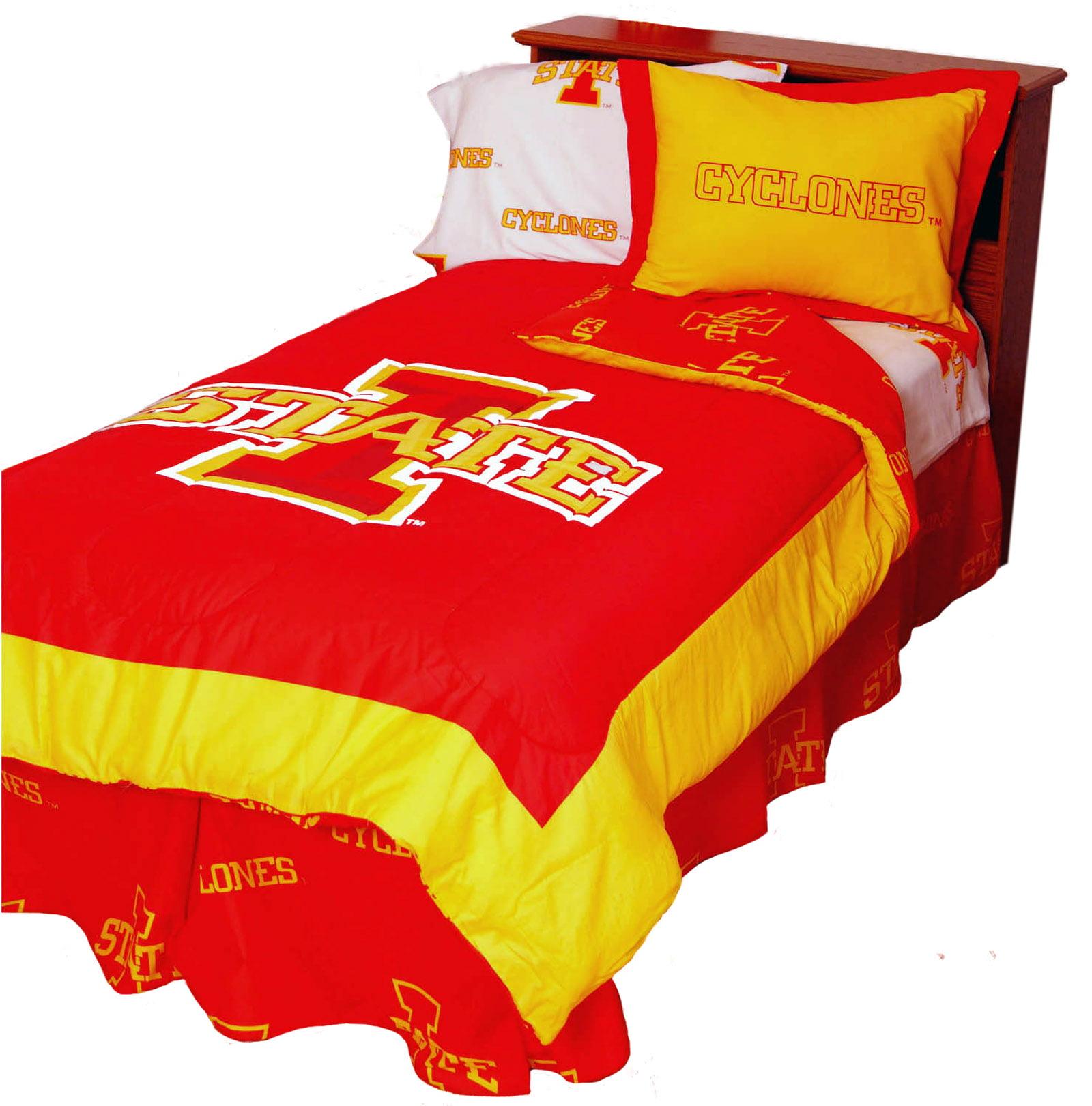 Iowa State Cyclones 2 Pc Comforter Set, 1 Comforter, 1 Sham, Twin