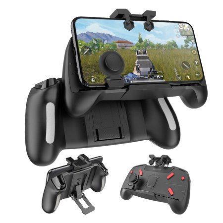 EEEKit 3 in 1 Joysticks Gamepad Mobile Phone Controller L1/R1 Sensitive Shoot and Aim Trigger Fire Buttons for iOS and Android 4.6-6.5 inch
