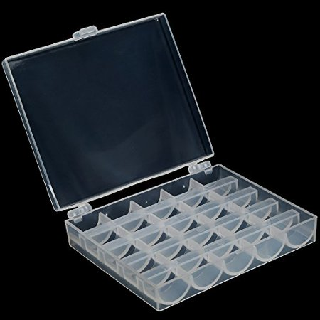 Oligex£¨TM) Hot Empty Plastic Clear Transparent Sewing Machine Bobbin Case Spool Organizer Storage Box for home sewing machine