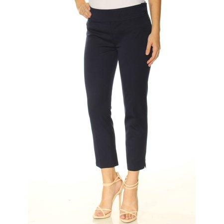 Ralph Lauren Petite Pants (RALPH LAUREN Womens Navy Zippered Cropped Wear To Work Pants Petites  Size:)