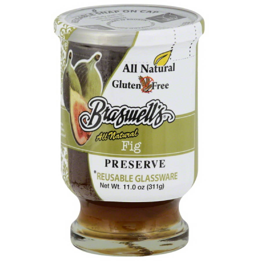 Braswell's All Natural Fig Preserve, 11.0 oz, (Pack of 6)