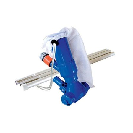 9 5 Blue Swimming Pool Vacuum Head Kit With Filter Bag And Aluminium Pole