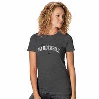NCAA Womens Ultra Soft Signature Crew Neck T-Shirt  - Multiple Teams (Womens Small, Vanderbilt Commodores - Charcoal)