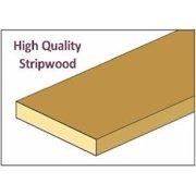 Dollhouse &Cla73289: Stripwood, 1/4 X 1/2