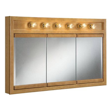 Design House 530626 Richland 6-Light Tri-View Wall Cabinet, 48