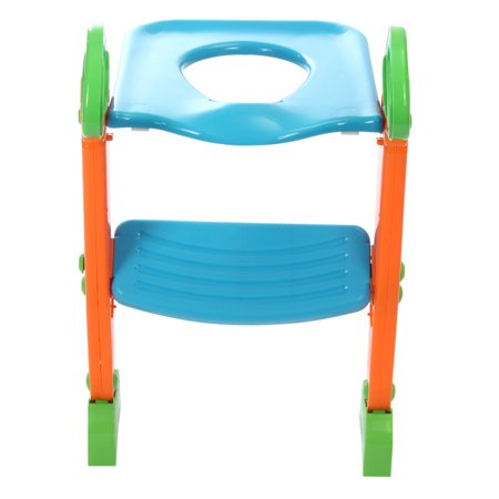 trainer elongated toilet potty seat chair kids toddler with ladder step up training stool. Black Bedroom Furniture Sets. Home Design Ideas