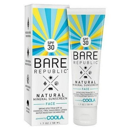 Brand New Bare Republic Natural Mineral Face Sunscreen Lotion Spf 30 1 7 Oz