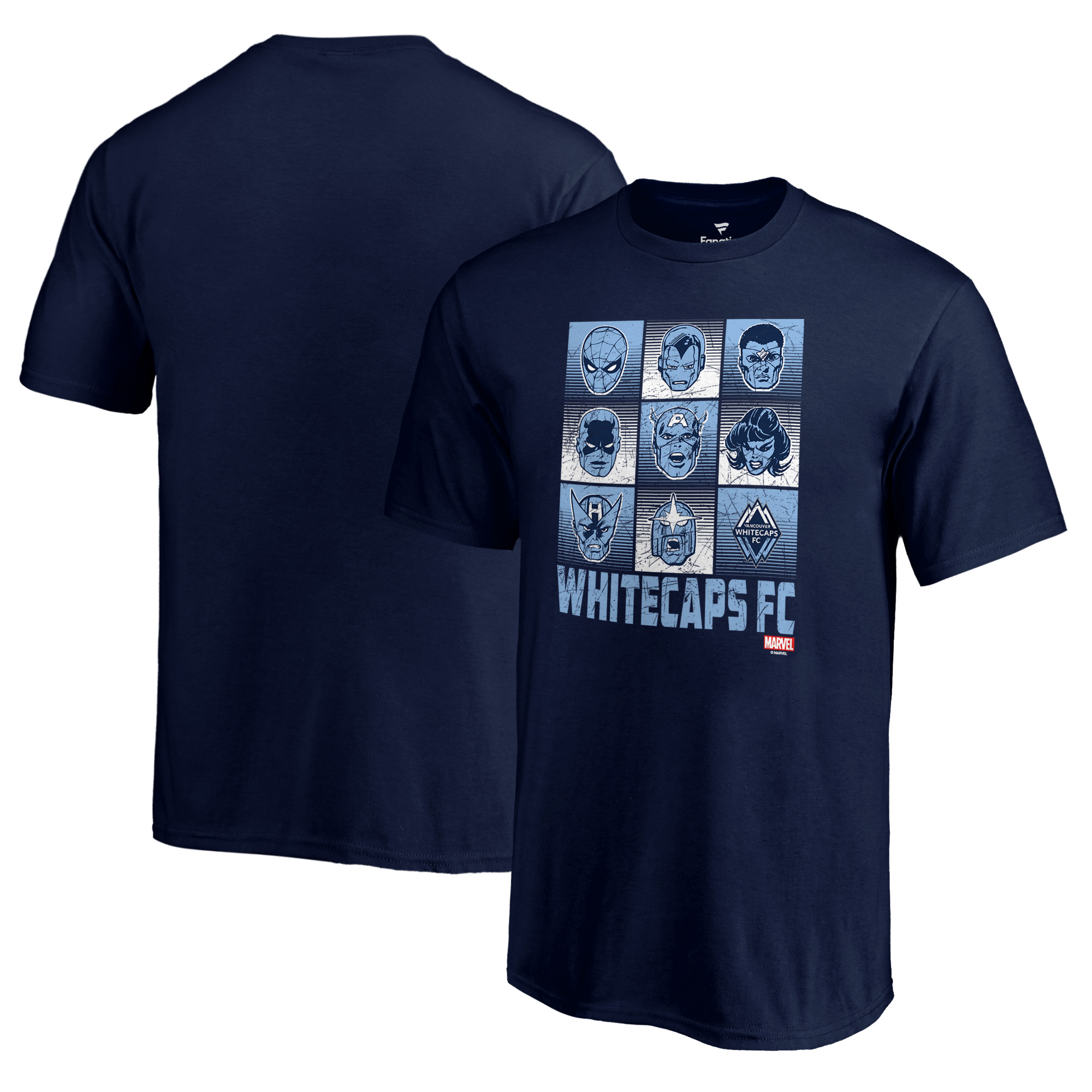 Vancouver Whitecaps FC Fanatics Branded Youth Marvel Hall of Heroes T-Shirt - Deep Sea Blue