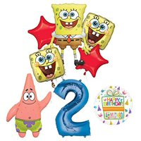 Spongebob Squarepants 2nd Birthday Party Supplies and Balloon Bouquet Decorations