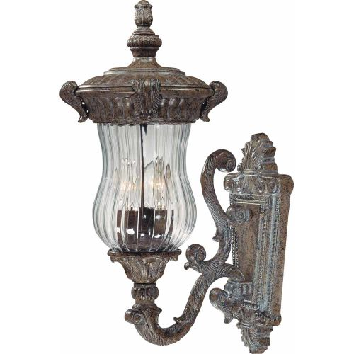 """Volume Lighting V8540 Melrose 3 Light 21"""" Height Outdoor Wall Sconce with Clear by Volume Lighting"""