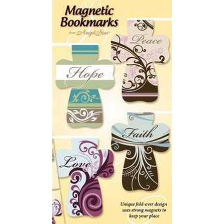Bookmark-Magnetic Cross/Hope Peace Love Faith/Floral-Set of - Cross Bookmark