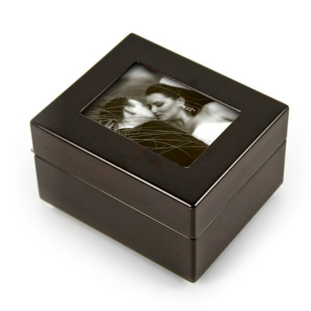 Sleek And Modern 4.5 X 3.5 Photo Frame Musical Jewelry Box - Could I Have This Dance