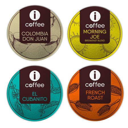 Kcups variety pack - Single Serve Coffee K-Cups Pods (Breakfast Blend - French Roast - Dark Roast - Medium Roast) Compatible with all Keurig Coffee Machines - 80 Count -  ICOFFEE