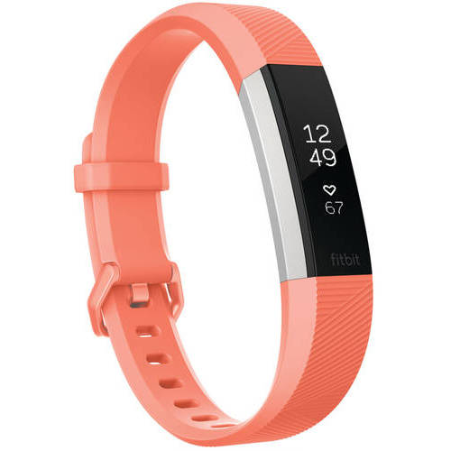 Refurbished Fitbit FB408SCRL Alta Heart Rate Wristband, Coral Large
