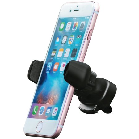 Aduro Solid Grip Vent Car Mount, Universal - for all Smartphones, 360 Degree Rotation, Single Hand Operation