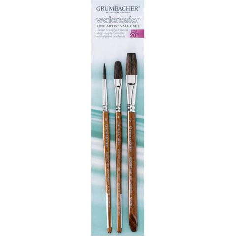 Grumbacher Brush Set - Assorted Hair Set #2