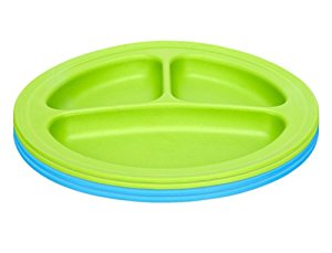 Green Eats Divided Plates, 4 Pack by Green Eats