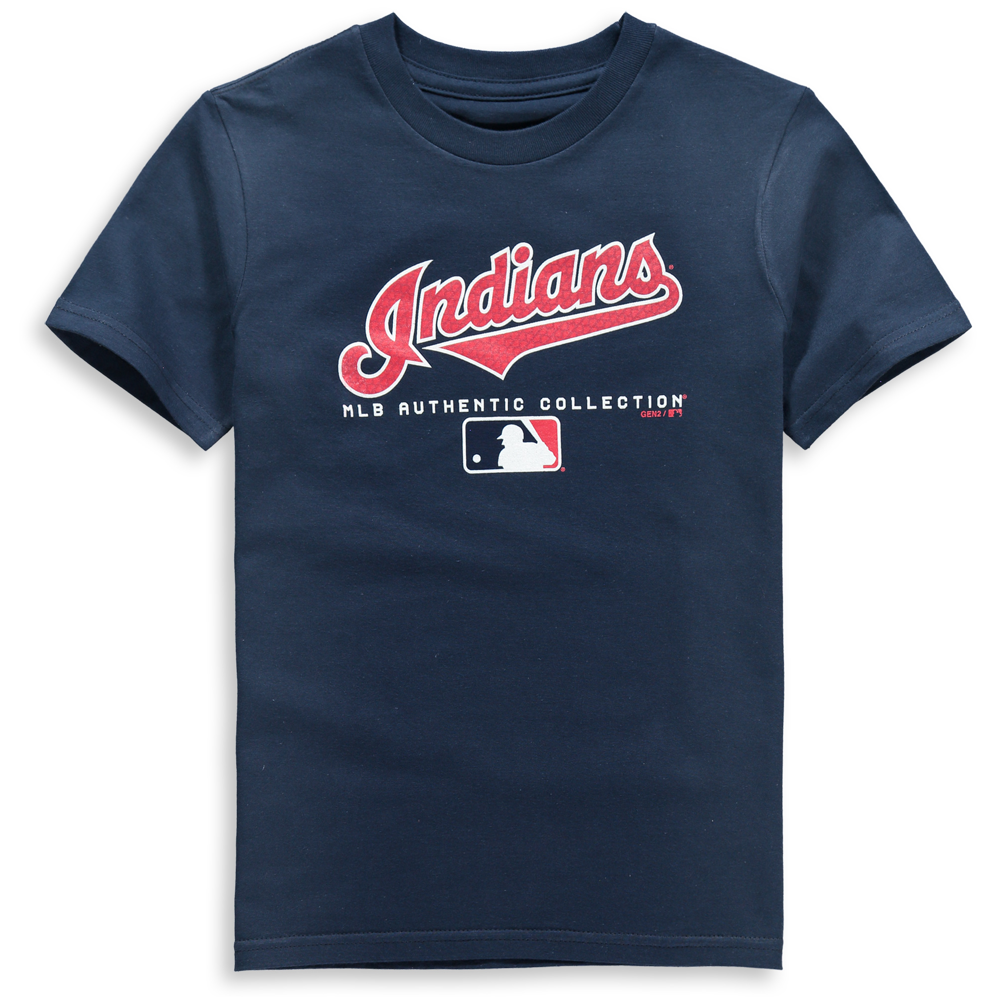 cleveland indians youth team drive on-field authentic t-shirt - navy