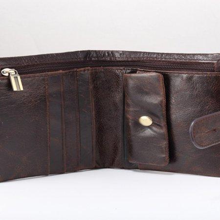 519 Men'S Handmade Pu Leather Long Wallet Retro Zipper Men And Women Handbag - image 7 of 9