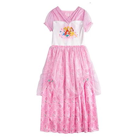 Disney Princess Girls Dress Up Nightgown (8) Pink