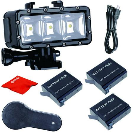 Underwater Video Lighting (Opteka High-Power Underwater Diving Waterproof 147ft(45m) LED Video Light for GoPro Hero 7/6/5/5S/4/4S/3+/2/SJCAM/YI Action Cameras )