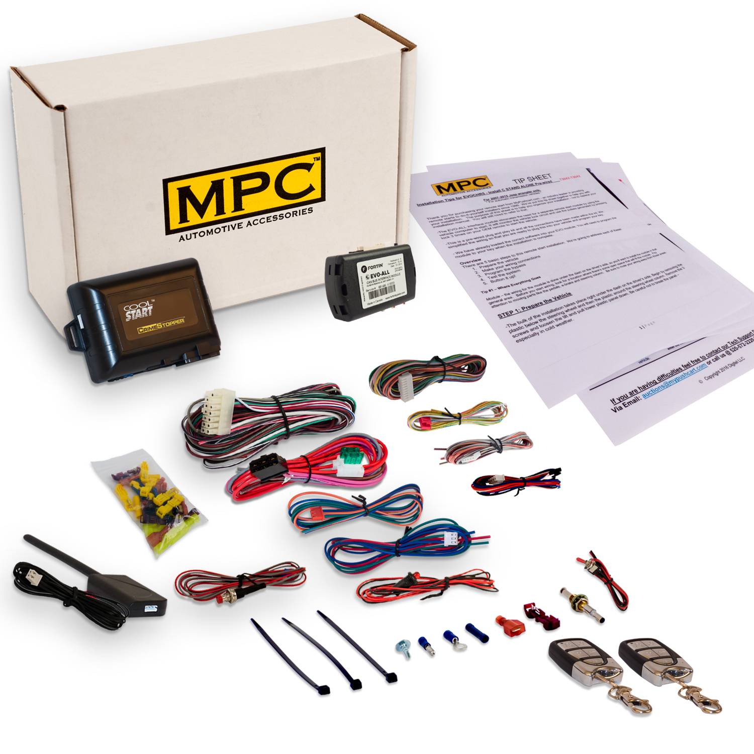 Complete Remote Start Kit With Keyless Entry For 2009-2010 Ford F-150