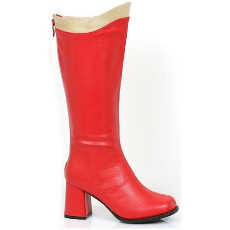 Ellie Shoes E-300-Super 3 Knee High Boot With Zipper Women 12 / Red/White (Super Zipper Boots)