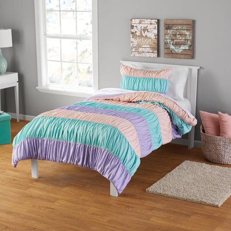 Your Zone Ruched Stripe Comforter & Sham Set, 1 Each ()
