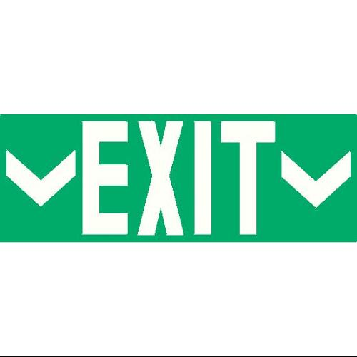 ADDLIGHT 8.30 Exit Sign, 10 x 27In, Whit/GRN, Exit, ENG