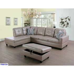 Superb 3 Piece Sectional Sofa Set Saddle Machost Co Dining Chair Design Ideas Machostcouk