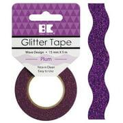 Best Creation Designer Glitter Tape 15mmX5m-Plum Wave