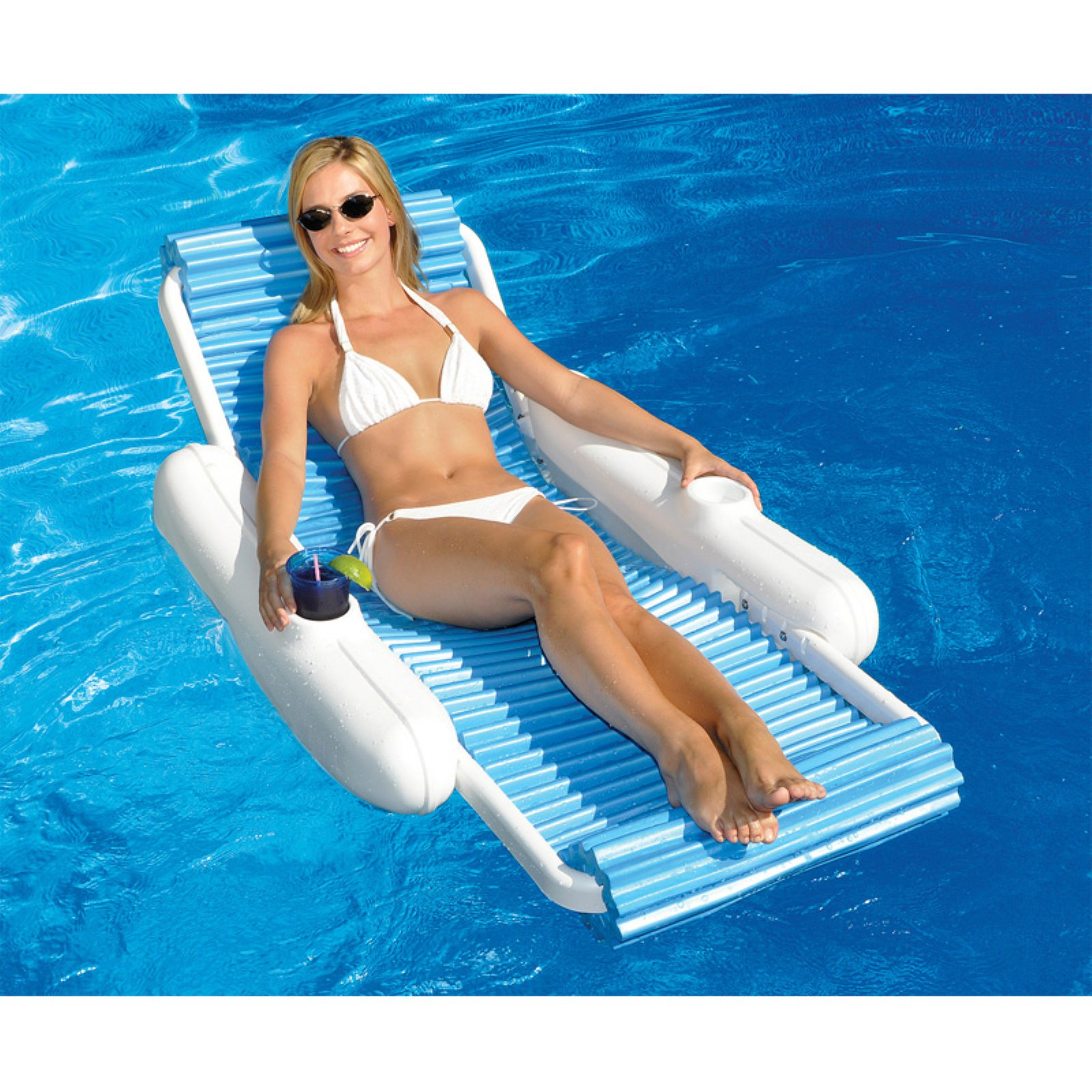 Swimline SunChaser EvaFloat Floating Luxury Lounger for Swimming Pools