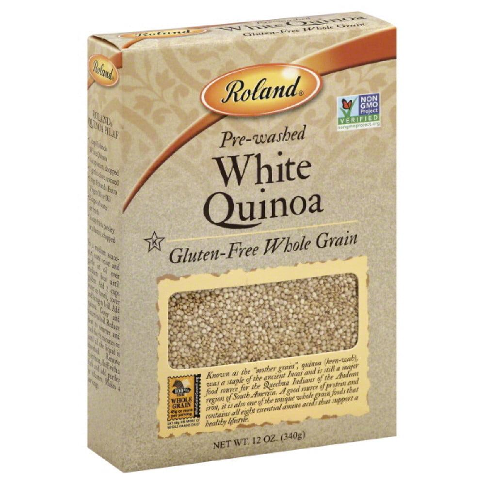 Roland Pre-Washed White Quinoa, 12 oz