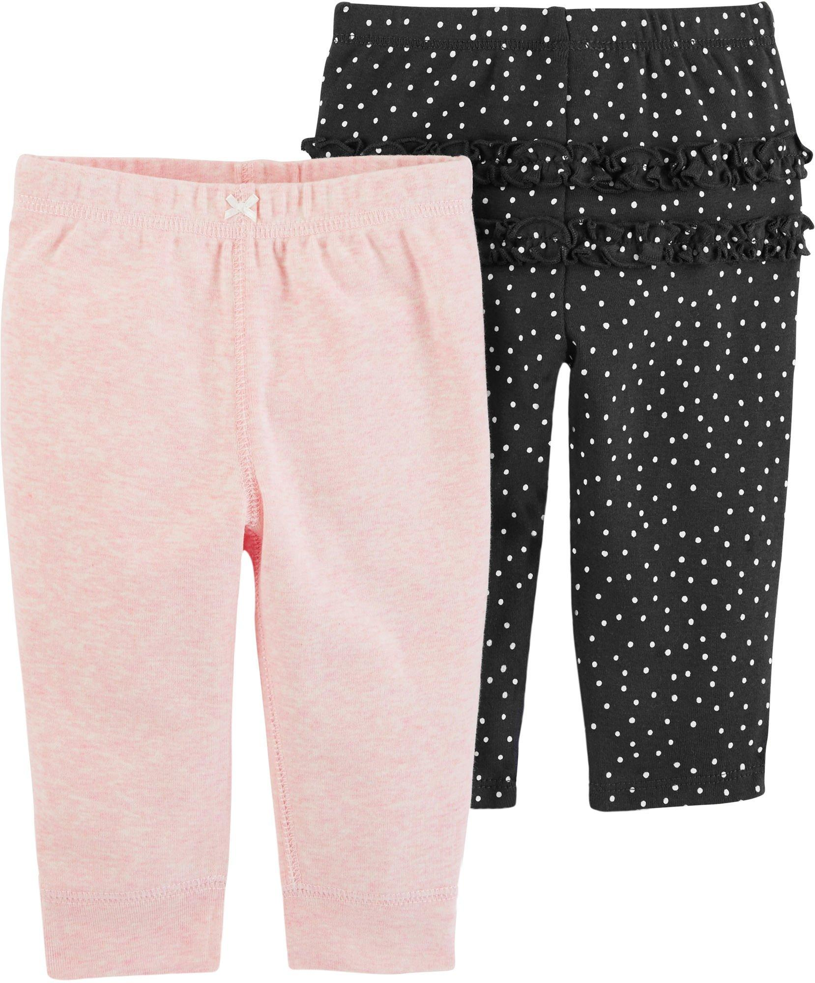 3 Months, White 3M-24M Carters Baby Girls French Terry Capri-length Pants