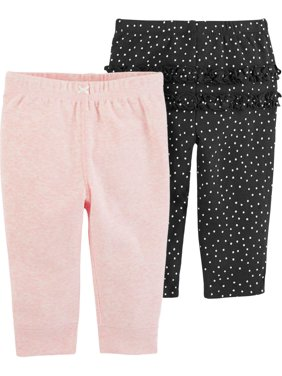 Carters Baby Girls 2-pk. Ruffle Dots Pull-On Pants