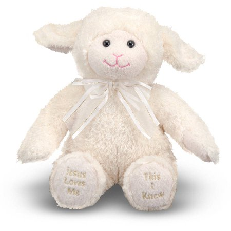 Melissa & Doug Jesus Loves Me Lamb - Stuffed Animal With Sound Effects