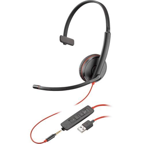 Plantronics Blackwire C3215 Casque - Mono - Noir - USB Type A, Mini-phone - filaire - 20 Hz - 20 Kh - image 1 de 1