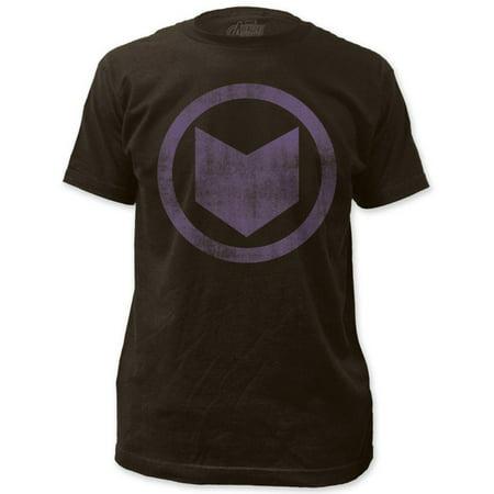 Hawkeye Vft (Hawkeye - distressed icon Apparel T-Shirt - Black )