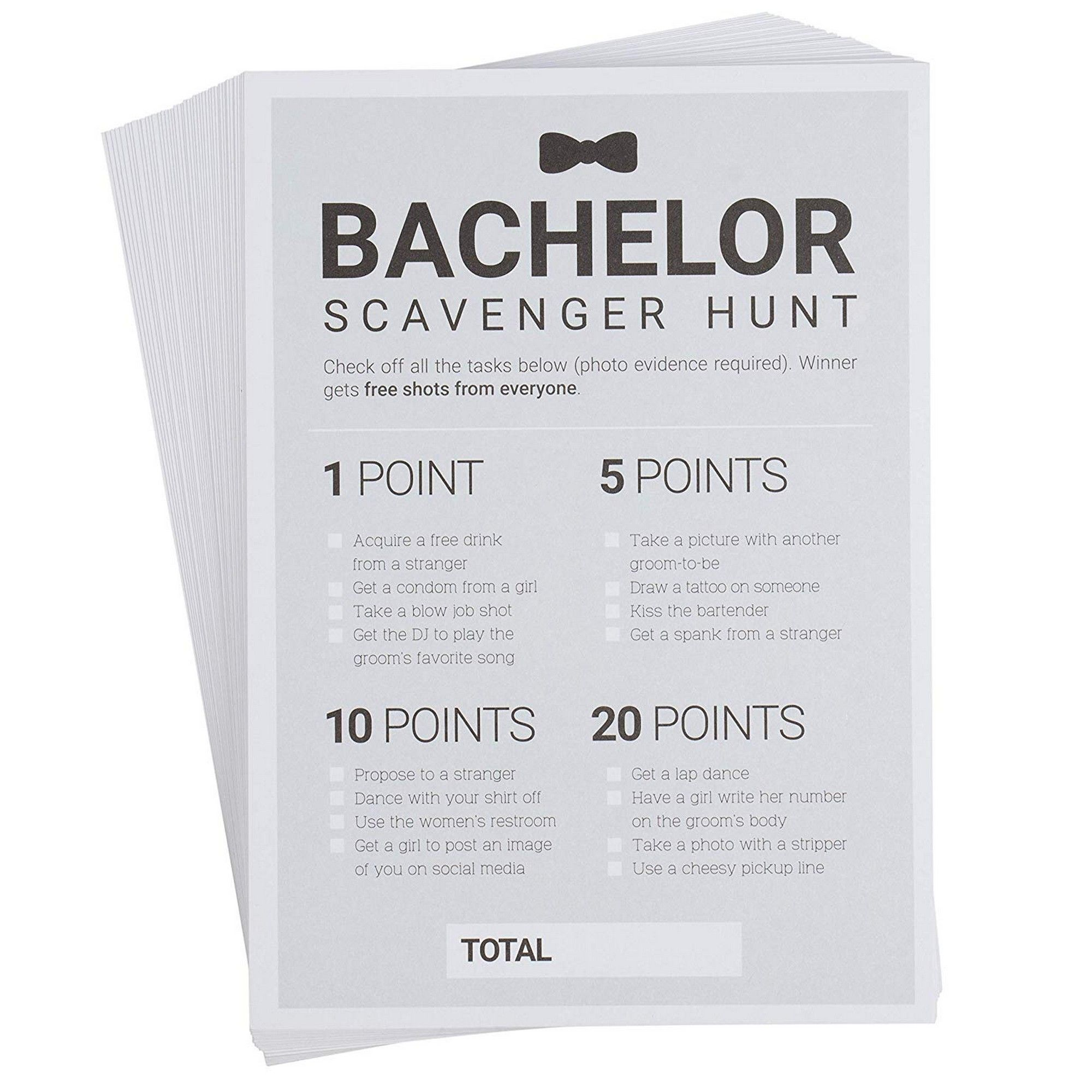 Decorations and Favors Funny Bachelor Party Ideas Gifts Drinking Game Supplies Bachelor Party Scavenger Hunt